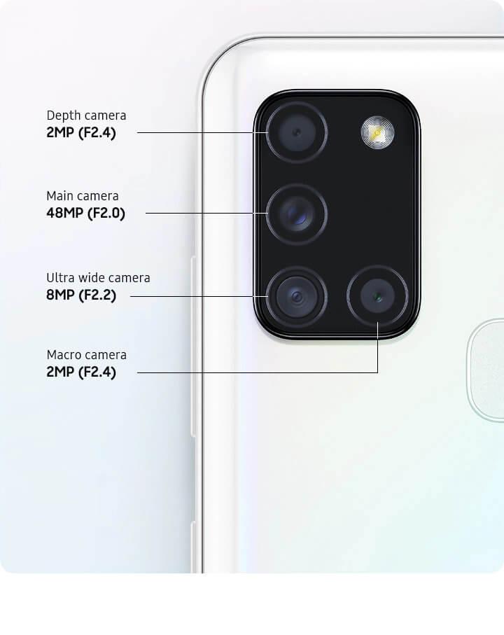 samsung galaxy A21s cameras