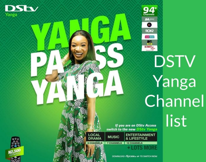 DSTV Yanga Channels list