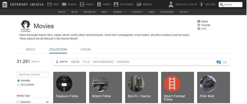 Internet archive movie download website