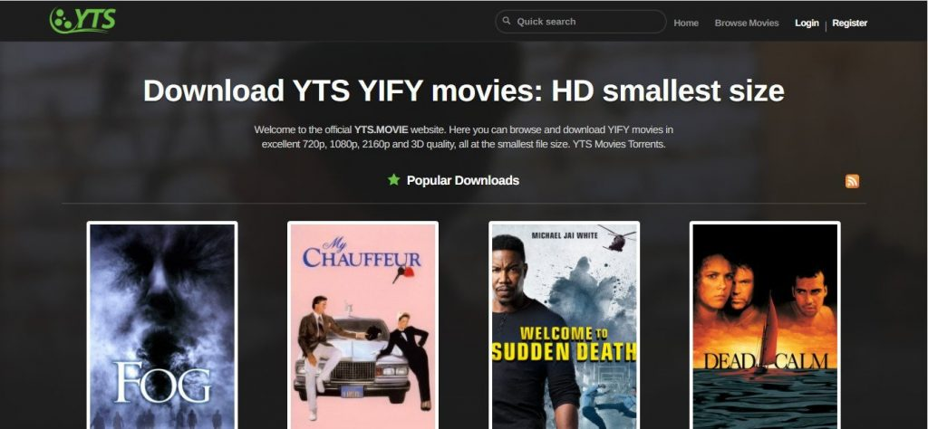 YTS movies download