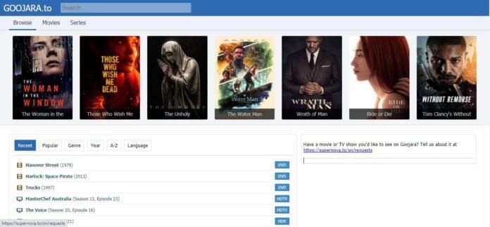 Goojara movie download site