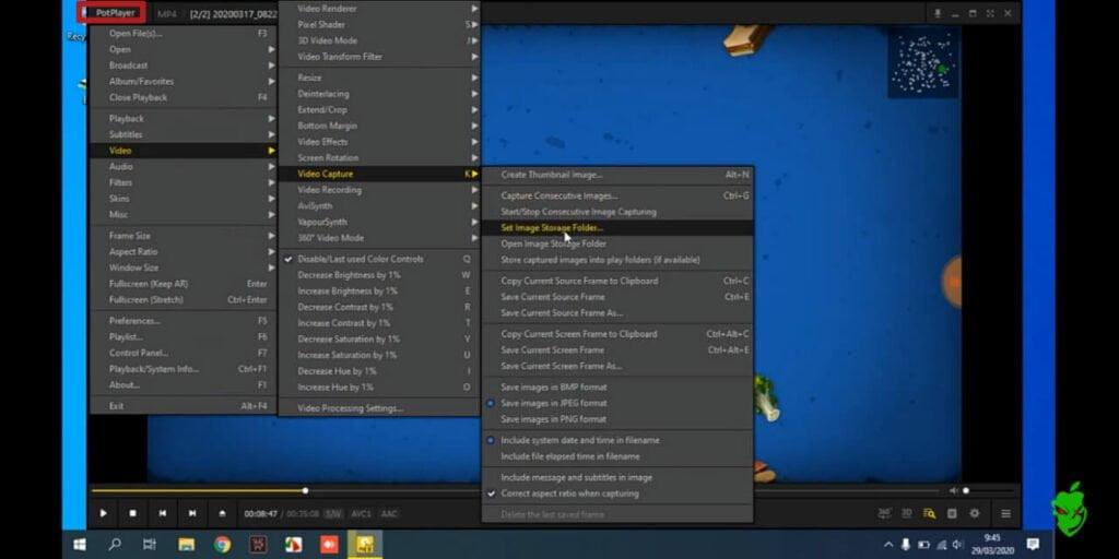 take a screenshot using potplayer