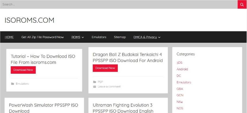 ISO ROMs download websites