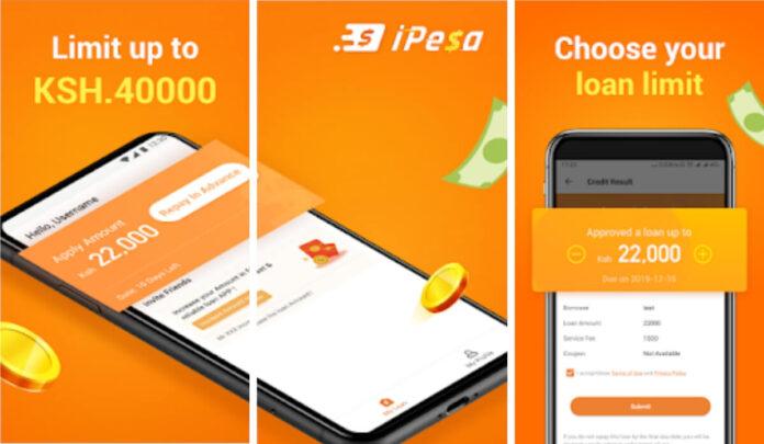 Ipesa loan app application, interest rate, downloads